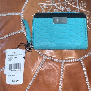 DVF Python Small zip wallet, NWT